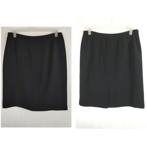 Le Suit Petite Women's Skirt size 14P Black Lined